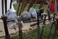 medeltida vapen Arkivbilder