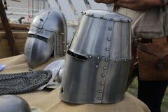 medeltida vapen Arkivbild