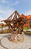 Medeltida väl i den Gniew slotten, Polen Royaltyfri Bild