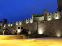Medeltida walled gammal stad Baku Azerbaijan Royaltyfria Bilder