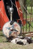 medeltida weaponry Arkivfoton
