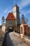 medeltida zvikov för slott royaltyfri bild