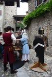 Medeltiden i Erba den medeltida marknaden - område av Villincino söndag, Maj 13, 2018 Royaltyfri Bild