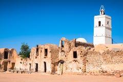 Medenine (Tunesië): traditionele Ksour (Berber Versterkte Graanschuur Stock Afbeelding