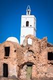 Medenine (Tunisien): traditionella Ksour (berberen stärkt spannmålsmagasin Royaltyfri Bild