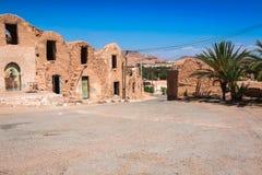 Medenine (Tunisien): traditionella Ksour (berberen stärkt spannmålsmagasin Fotografering för Bildbyråer