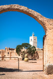 Medenine (Tunisien): traditionella Ksour (berberen stärkt spannmålsmagasin Arkivbilder