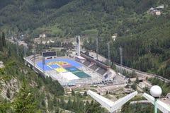 Medeo (Medeu) rink in Almaty, Kazakhstan Stock Photos