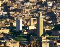 Medersa在老麦地那在Fes摩洛哥 免版税库存图片