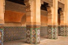 Medersa Ben Youssef. Detail.  Marrakesh . Morocco Royalty Free Stock Image
