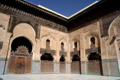 Medersa Bou Inania in Fes, Morocco Stock Photos