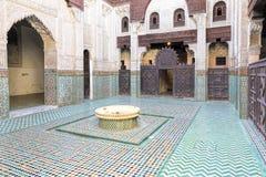 Medersa Bou Inania Koranic School, Meknes Stockbild