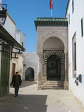 Medersa es Slimania street. Tunis. Tunisia Royalty Free Stock Photos