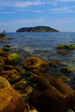 Medes Islands, Costa Brava, Spain. Calm sea in front of the Medes Islands, one August morning Stock Images