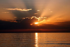 medeterenian sea sunset Royalty Free Stock Photography