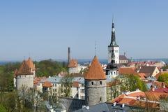 Medevial ragt Tallinn hoch Lizenzfreie Stockbilder