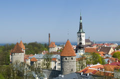 Medevial towers Tallinn Royalty Free Stock Images