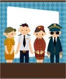medfölja pilot för korttecknad filmflyg Royaltyfri Fotografi