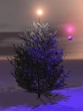 medf8or julfullföljandeutgångspunkten dem till treen stock illustrationer