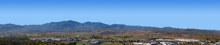 Medford Oregon Panorama Stockbild