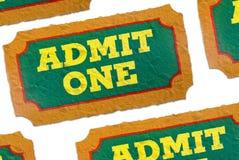 medge en tickets Arkivfoto