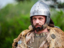 MEDGIDIA, ROMANIA - MAY 6, 2017. Dacian warriors at Dapyx Antique Festival - Medgidia who present habits, lifestyle and fighting t Royalty Free Stock Image