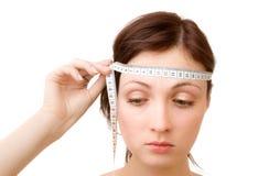 Medição do cérebro Foto de Stock Royalty Free