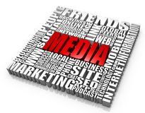 Media. Group of media related words. Part of a series of business concepts