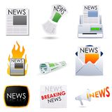 Media. Illustration of newspaper,television and mail as mode of different media Stock Photo