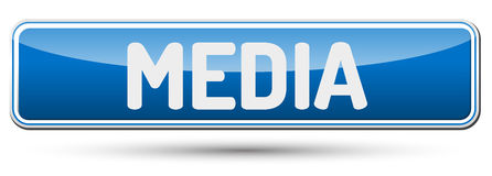 MEDIA - Abstract beautiful button with text. Stock Photo