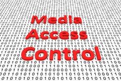 Media Access Control Royaltyfri Fotografi