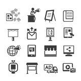 Media and advertising icon set Royalty Free Stock Photos