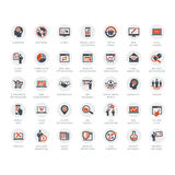 Media and Advertising icons Stock Image