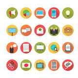 Media and Advertising icons set. Royalty Free Stock Photo