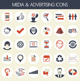 Media and advertising icons Royalty Free Stock Images