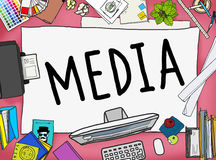 Media Advertising Information Multimedia Sharing Concept Stock Image