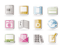 Free Media And Information Icons Royalty Free Stock Photo - 16487805