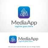 Media App Logo Template Design Vector, Emblem, Design Concept, Creative Symbol, Icon Stock Images
