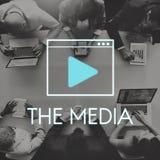 Media Audio Player Blog Concept Royalty Free Stock Photos