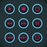 Media Audio Player Buttons Royalty Free Stock Image