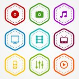 Media badges. Collection. This is file of EPS10 format Stock Images