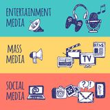 Media Banner Set Royalty Free Stock Images