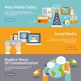 Media Banner Set Stock Images