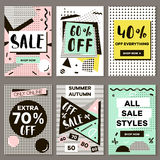 Media banners for online shopping, mobile website banners, posters, email and newsletter designs. Vector creative sale banners template with hand drawn vector illustration