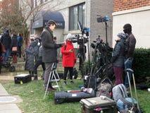 Media bij de Begrafenis van de President van de Verenigde Staten royalty-vrije stock foto's