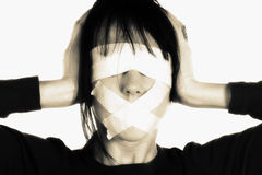 Media Blind - Censorship Concept Royalty Free Stock Photography