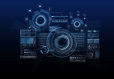 Media business background Royalty Free Stock Photos