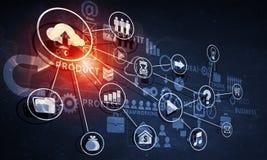 Media business background Royalty Free Stock Photo