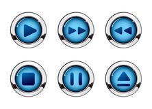 Media button set Royalty Free Stock Photos
