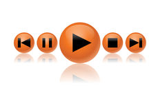 Media button set Royalty Free Stock Photo